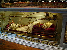 His Holiness John XXIII in his sarcophagus of the Basilica of St. Peter
