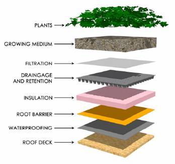 Заурядную серую крышу можно заменить привлекательным летним газончиком...